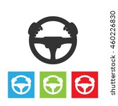 driver icon. simple logo of... | Shutterstock .eps vector #460226830