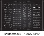 big set of elements for wedding ... | Shutterstock .eps vector #460227340