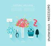 cultural life florist layer set | Shutterstock .eps vector #460231090