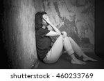 Sad Girl Sitting On The Floor...