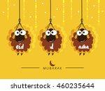 hanging sheeps creative... | Shutterstock .eps vector #460235644