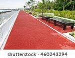 seaside park.floor walkway with ... | Shutterstock . vector #460243294