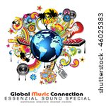 global music event abstract... | Shutterstock .eps vector #46025383