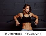 muscular body of a young woman  ... | Shutterstock . vector #460257244