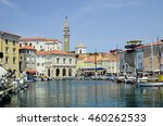 piran  slovenia   july 04  tiny ... | Shutterstock . vector #460262533