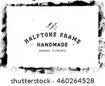 grunge halftone frame texture...
