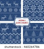 set of seamless wrapping paper... | Shutterstock .eps vector #460264786