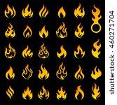 big set of 29 flame and fire... | Shutterstock .eps vector #460271704