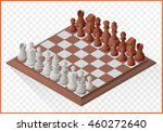 isometric chess piece or...   Shutterstock .eps vector #460272640