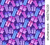 gift boxes seamless pattern.... | Shutterstock .eps vector #460276120