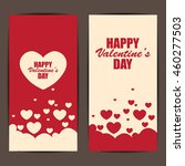happy valentines day banner and ... | Shutterstock .eps vector #460277503