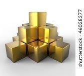 3d golden pyramid | Shutterstock . vector #46028377