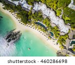 mauritius beach aerial view of... | Shutterstock . vector #460286698