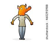 cartoon fox woman | Shutterstock . vector #460293988
