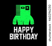 happy birthday invitation card... | Shutterstock .eps vector #460296250