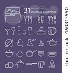 outline icon collection  ... | Shutterstock .eps vector #460312990