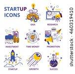 start up business icon set... | Shutterstock .eps vector #460319410