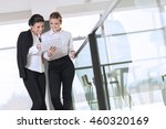 two business colleagues...   Shutterstock . vector #460320169
