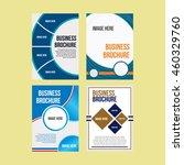 set of vector brochure cover... | Shutterstock .eps vector #460329760