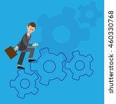 a businessman walks through the ... | Shutterstock .eps vector #460330768