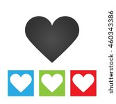 heart icon. simple logo of... | Shutterstock .eps vector #460343386