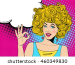 young sexy happy surprised... | Shutterstock .eps vector #460349830