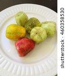 Peeled Fruits Of Cactus Opuntia
