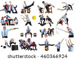 businessmen in several sports... | Shutterstock . vector #460366924