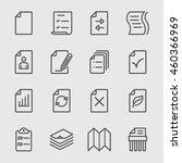 paper sheet line icon | Shutterstock .eps vector #460366969