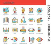 vector icons. design | Shutterstock .eps vector #460370029