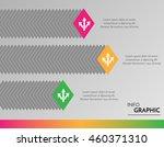 vector infographic bars for... | Shutterstock .eps vector #460371310