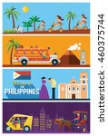 flat design  the philippines's... | Shutterstock .eps vector #460375744