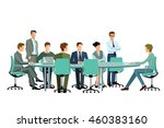 meeting in the group | Shutterstock . vector #460383160
