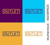 outlet sale  | Shutterstock .eps vector #460389820