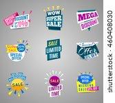 modern discount card set of... | Shutterstock .eps vector #460408030