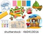 scrapbooking tools. design... | Shutterstock .eps vector #460413016