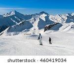 sunny winter day in alpine ski... | Shutterstock . vector #460419034