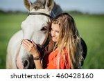 portrait of young beautiful... | Shutterstock . vector #460428160