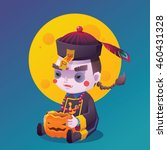vector illustration of jiangshi ... | Shutterstock .eps vector #460431328