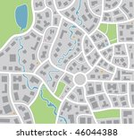 vector city map | Shutterstock .eps vector #46044388