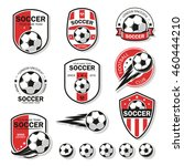 set of football logos. | Shutterstock .eps vector #460444210