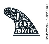 Hand Drawn Surf Single Fin With ...