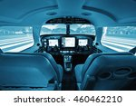 cockpit small private aircraft  ... | Shutterstock . vector #460462210