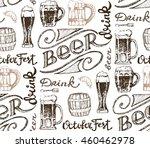 october fest. vector  beer... | Shutterstock .eps vector #460462978