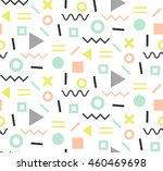 trendy memphis cards. abstract... | Shutterstock .eps vector #460469698