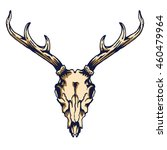 vector illustration of antler... | Shutterstock .eps vector #460479964