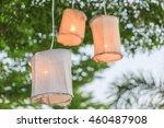 Cloth Lamp Hang On The Tree