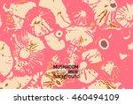mushrooms background vector...   Shutterstock .eps vector #460494109