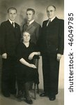 Vintage family photo, thirties - stock photo