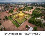 wat phra that luang  vientiane  ... | Shutterstock . vector #460499650